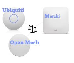 Bảng So Sánh AP Meraki - Ubiquiti - Open Mesh
